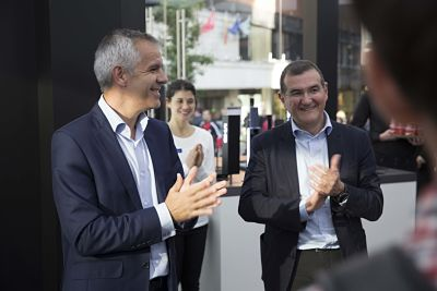 Celestino García y Francisco Hortigüela de Samsung